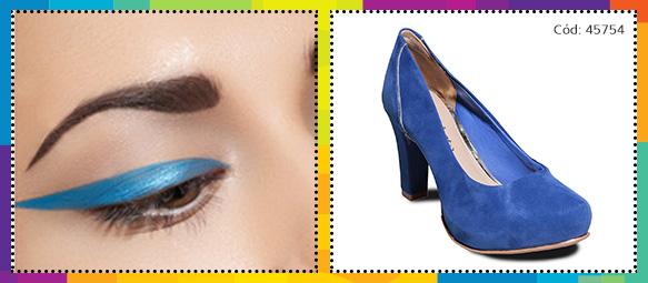 Delineadores Colorido Azul