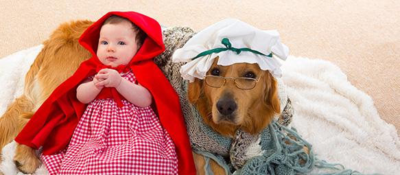 Bebê com capa