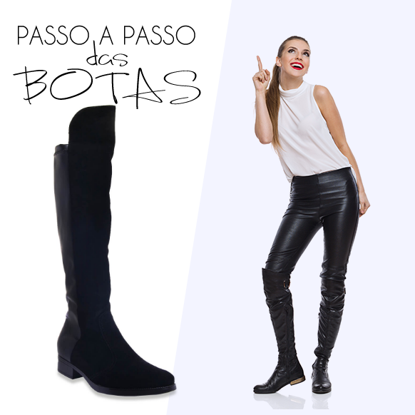 Bota Feminina Montaria Over The Knee Vizzano