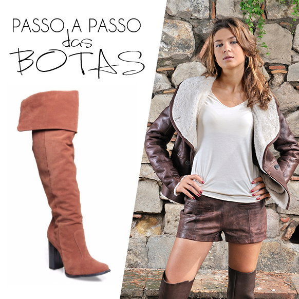 Bota Feminina Over The Knee Cano Longo Di Cristalli